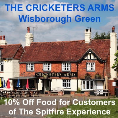 10% Off Food - The Cricketers Arms - Wisborough Green!